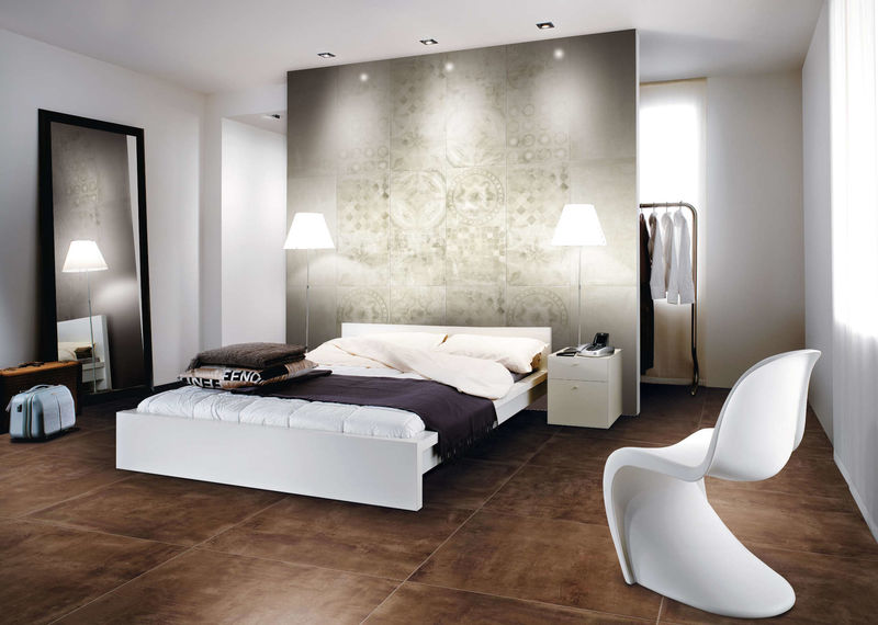 fliesen im wohnzimmer kalt  minimalistisches und modernes